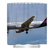 Brussels Airlines Airbus A319 Shower Curtain