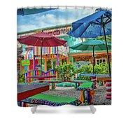 Bubble Room Restaurant - Captiva Island, Florida Shower Curtain