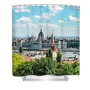 Budapest Skyline Shower Curtain