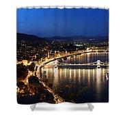 Budapest. View From Gellert Hill Shower Curtain by Michal Bednarek
