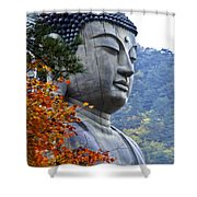 Buddha In Autumn Shower Curtain