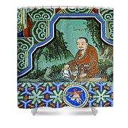 Buddhist Temple Art Shower Curtain