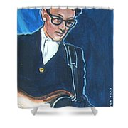 Buddy Holly Shower Curtain