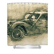 Bugatti Type 57 - Atlantic 3 - 1934 - Automotive Art - Car Posters Shower Curtain