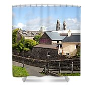Buildings In A Town, Mullingar, County Shower Curtain