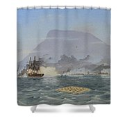 Bulldog Shelling The Forts Shower Curtain