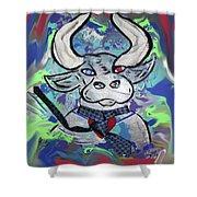 Bullish - A Bull With A Heart - Untie Me Shower Curtain