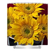 Bunch Of Sunflowers Shower Curtain