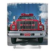 Burnington Iolta Fire Rescue - Tanker Engine 1550, North Carolina Shower Curtain