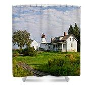 Burnt Island Lighthouse Shower Curtain