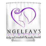 Purple And White Angelfayss Shower Curtain