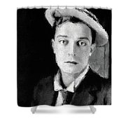 Buster Keaton, Legend Shower Curtain