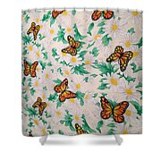 Butterflies And Daisies - 1 Shower Curtain
