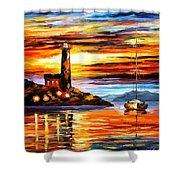 By The Lighthouse Shower Curtain