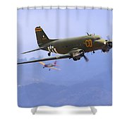 C-47 Gooney Bird At Salinas Shower Curtain