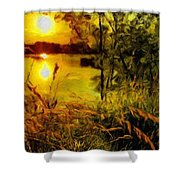 C Landscape Shower Curtain