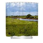 C54 Canal In Florida Shower Curtain