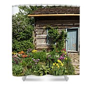 Cabin In The Spring Shower Curtain