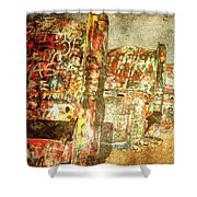 Cadillac Ranch On Route 66 Shower Curtain