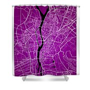 Cairo Street Map - Cairo Egypt Road Map Art On Colored Backgroun Shower Curtain