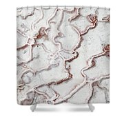 Calcium Deposits From Thermal Springs, Pamukkale - Turkey  Shower Curtain