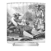 California Gold Rush, 1860 Shower Curtain