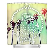 California Palms IIi Shower Curtain