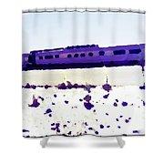 California Zephyr  Shower Curtain