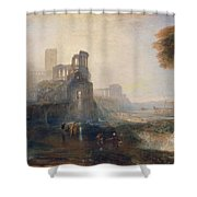 Caligula's Palace And Bridge Shower Curtain