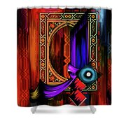 Calligraphy 100 2 Shower Curtain