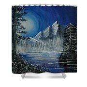 Calmness Under Moon Shower Curtain