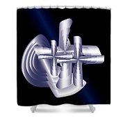 Calvary D2 Shower Curtain