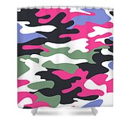 Camouflage Pattern Background Seamless Clothing Print, Repeatabl Shower Curtain