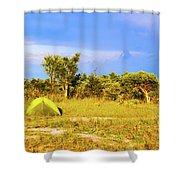 Camp Ground Near Kasane In Botswana Shower Curtain