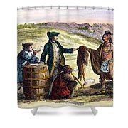 Canada: Fur Traders, 1777 Shower Curtain by Granger