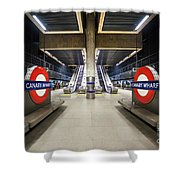 Canary Wharf Shower Curtain