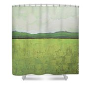 Canola Field Shower Curtain by Vesna Antic