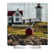 Cape Neddick Lighthouse 4 Shower Curtain