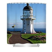 Cape Reinga Lighthouse Shower Curtain