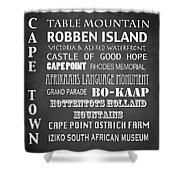 Cape Town Famous Landmarks Shower Curtain