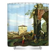 Capriccio With Motifs From Padua Shower Curtain