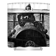 Captain Eddie Rickenbacker  Shower Curtain by War Is Hell Store