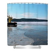 Car Ferry Shower Curtain
