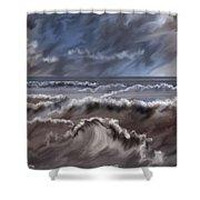 Caramel Seas Shower Curtain