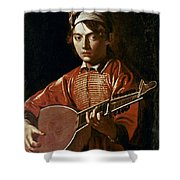 Caravaggio: Luteplayer Shower Curtain by Granger