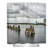 Cardiff Bay Panorama Shower Curtain