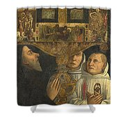 Cardinal Bessarion With The Bessarion Reliquary Shower Curtain