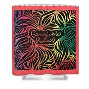 Caregiver's Rock Shower Curtain