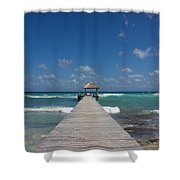 Caribbean Landing Shower Curtain