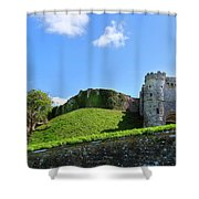 Carisbrooke Castle - Isle Of Wight Shower Curtain